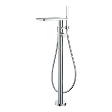 Flova Annecy Floorstanding Single Lever Bath Shower Mixer & Shower Set