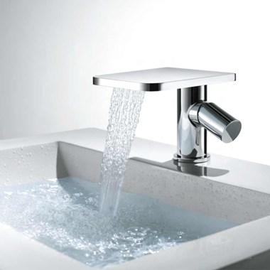 Flova Annecy Waterfall Mono Basin Mixer with Clicker Waste
