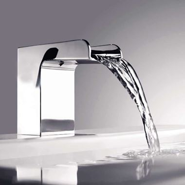 Flova Cascade 2 Hole Waterfall Bath Mixer Tap