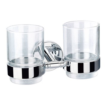 Flova Coco Double Tumbler Holder With Glasses