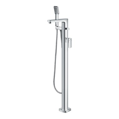Flova Dekka Floorstanding Bath Shower Mixer & Shower Set