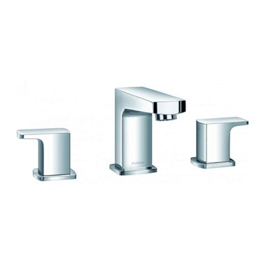Flova Dekka 3 Hole Basin Mixer with Clicker Waste
