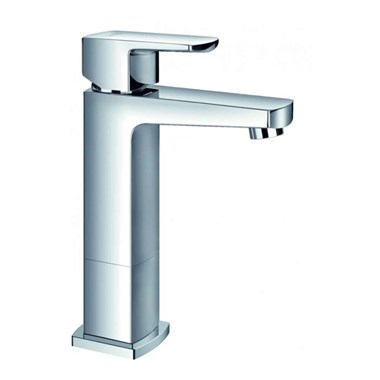 Flova Dekka Mid Height Mono Basin Mixer with Clicker Waste