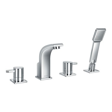 Flova Essence 4 Hole Bath Shower Mixer & Shower Set
