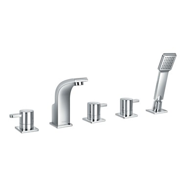 Flova Essence 5 Hole Bath Shower Mixer & Shower Set