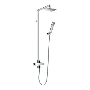 Flova Essence Manual Exposed Shower Column With Hand Shower & Overhead Shower