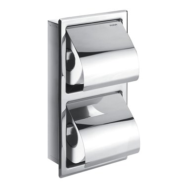 Flova Gloria Double Concealed Toilet Roll Holder