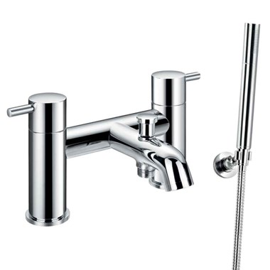 Flova Levo Deck Mounted Bath Shower Mixer & Shower Set