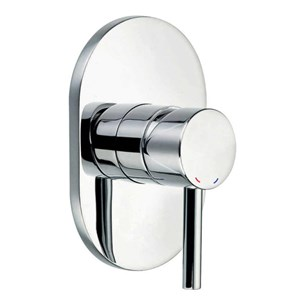 Flova Levo Single Outlet Concealed Manual Shower Valve with Oval Plate