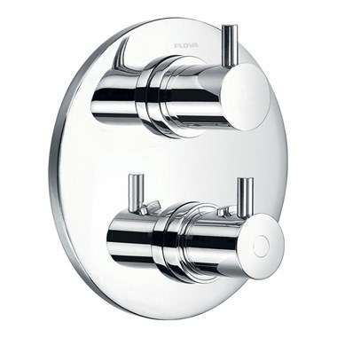 Flova Levo Round 3 Outlet Concealed Thermostatic Shower Valve