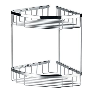 Flova Rack Solid Brass Double Corner Rack
