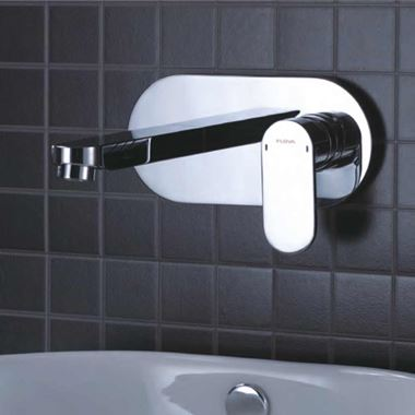 Flova Smart Wall Mounted Concealed Basin Mixer Tap with Clicker Waste