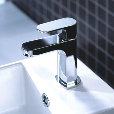 Flova Smart Cloakroom Basin Mixer Tap with Clicker Waste