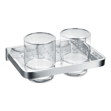 Flova Sofija Double Glass Tumbler Holder