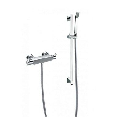 Flova Str8 Exposed Thermostatic Bar Valve with Slide Rail Set