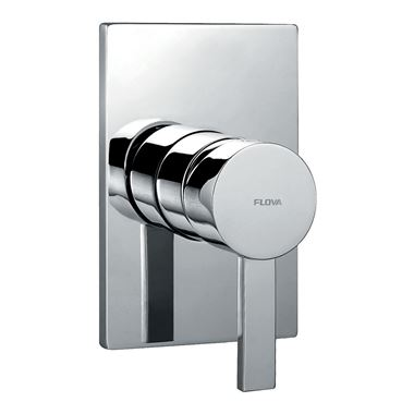Flova STR8 Concealed Manual Shower Valve With Large Plate - 1 Outlet
