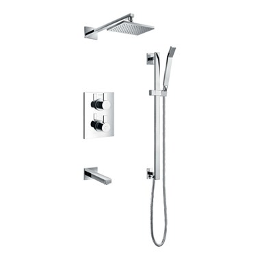 Flova STR8 Concealed Thermostatic Shower Valve Kit 2