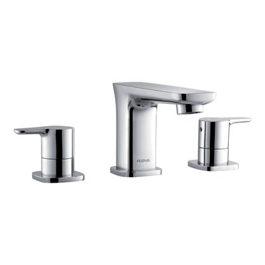 Flova Urban 3 Hole Basin Mixer & Clicker Waste Set