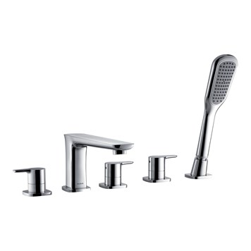 Flova Urban 5 Hole Bath Shower Mixer & Shower Set
