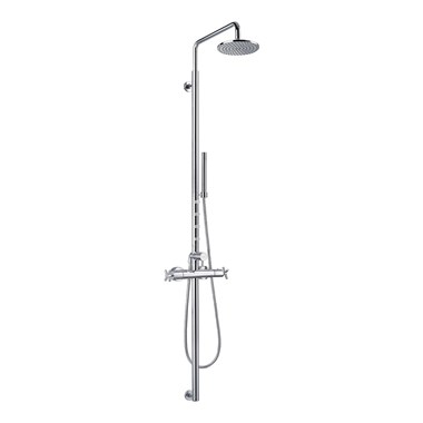 Flova XL Exposed Thermostatic Shower Column Kit 1