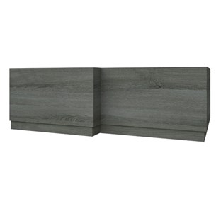 Drench Gregory 1700mm L-Shaped Bath Panel - Grey Ash