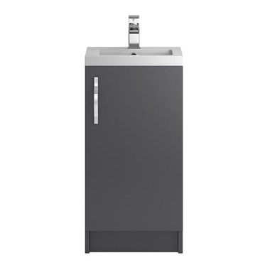 Apollo 400mm Floor Standing Vanity Unit and Basin - Grey