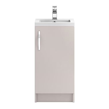 Apollo 400mm Floor Standing Vanity Unit and Basin - Cashmere