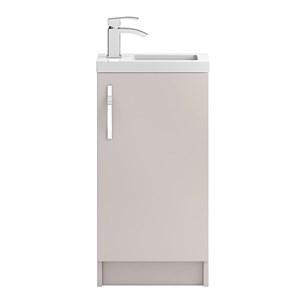 Apollo Compact 400mm Floor Standing Vanity Unit and Basin - Cashmere