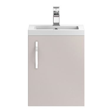 Apollo 400mm Wall Hung Vanity Unit and Basin - Cashmere