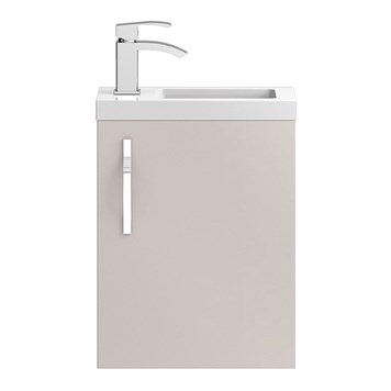 Apollo Compact 400mm Wall Hung Vanity Unit and Basin - Cashmere