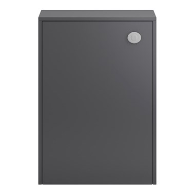 Coast 600mm Floor Standinig Back to Wall Toilet Unit - Grey Gloss