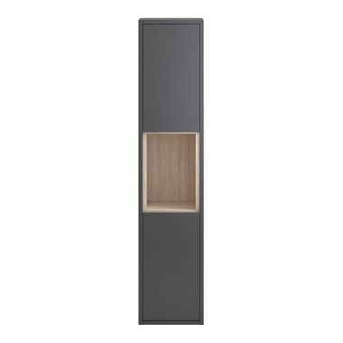 Coast 350mm Wall Hung Tall Unit - Grey Gloss