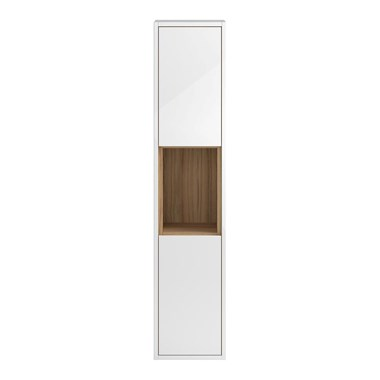 Coast 350mm Wall Hung Tall Unit - White Gloss