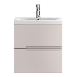 Urban 500mm Wall Hung Two Drawer Vanity Unit and Basin - Cashmere