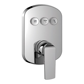 Flova Fusion GoClick 3 Outlet Concealed Manual Shower Valve with Easyfit Installation Box