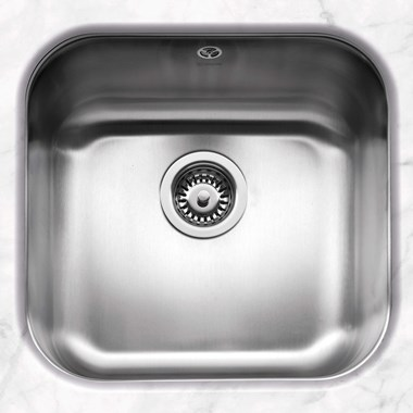 Caple Form 1 Bowl Undermount Satin Stainless Steel Sink & Waste Kit - 452 x 434mm