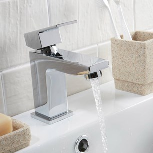 Vellamo Forte Basin Mixer Tap with Clicker Waste