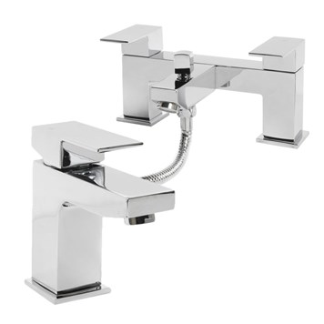 Vellamo Forte Basin Mixer & Bath Shower Mixer Value Pack