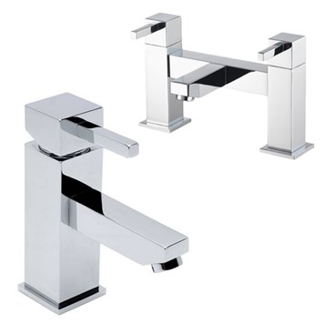 Vellamo Four Basin Mixer & Bath Filler Pack