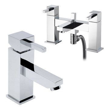Vellamo Four Basin Mixer & Bath Shower Mixer Pack