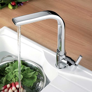 Francis Pegler Panacea Single Lever Mono Sink Mixer With Swivel Spout