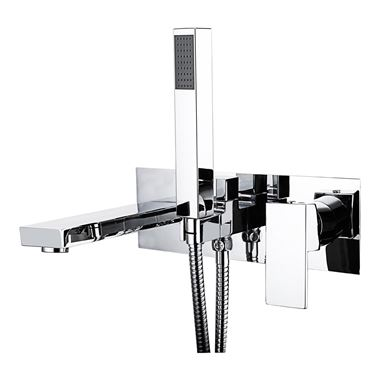 Vellamo Forte Wall Mounted Bath Shower Mixer With Kit