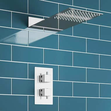 Froya Concealed Shower Valve & Square Fixed Wafer Shower Head