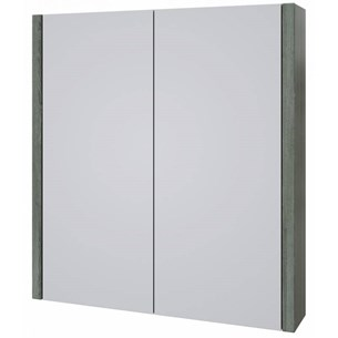 Drench Gregory 600mm Mirror Cabinet - Grey Ash