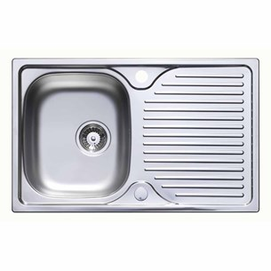 Astracast Compact 1 Bowl Satin Polish Stainless Steel Sink