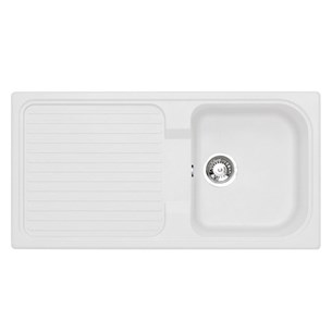 Astracast 1 Bowl Granite ROK Composite Sink - Opal White