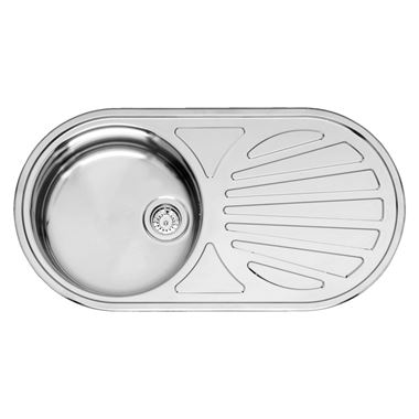 Reginox Galicia Single Bowl Stainless Steel Inset Sink & Waste - Reversible