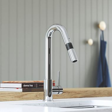 Bristan Gallery Smart Measure Mono Kitchen Mixer Tap - Polished Chrome