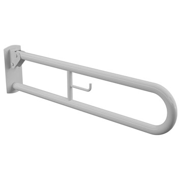 White Hinged 850mm Grab Rail