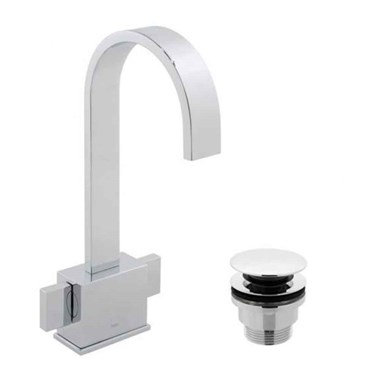 Vado Geo Mono Basin Mixer with Clicker Waste